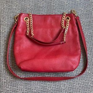 Michael Kors Red Good Chain Hand & Crossbody Bag
